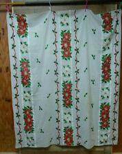 "Christmas Poinsettia Holiday Tablecloth 54"" X 67"""