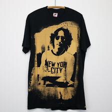 John Lennon Shirt Vintage tshirt 1990s Nyc Bleach Print New York City Beatles