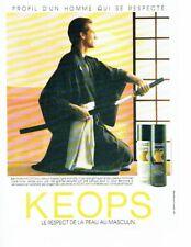 Publicité Advertising 087  1985  Keops mousse à raser after-shave