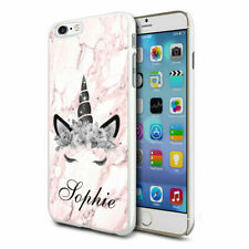 Personalised Grey Pink Glitter Unicorn Face Phone Case Cover for Apple Samsung