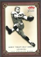 "ELROY ""CRAZY LEGS"" HIRSCH 2004 FLEER GREATS FOOTBALL CARD!!"