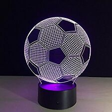 Soccer Ball 3D Optical Illusion LED Light - 7 Color Change Touch Button