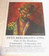 Sven Berlin - Out of the shadows 2012  ART EXHIBITION POSTER