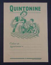 Protège cahier QUINTONINE vert table mutiplication copybook cover Wachbuch