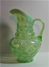NORTHWOOD COIN DOT 3 TIER GREEN OPALESCENT PITCHER.....  RARE...