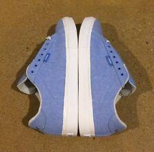 Lakai Howard Select Size 8.5 Blue Chambray Canvas BMX DC Skate Shoes Deadstock