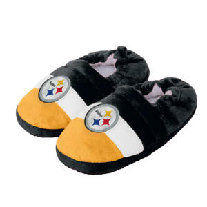 Pittsburgh Steelers NFL Boys Color Block Close Back Slippers, XL 13/1 - NWT