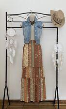 🤩OUTFIT🤩 vintage maxi skirt 12..ff denim waistcoat..12..hippy chick.boho..