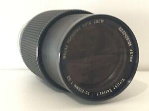 Vtg Vivitar Series 1 70-210mm 1:3.5Macro Focusing Auto Zoom Black Camera Lens
