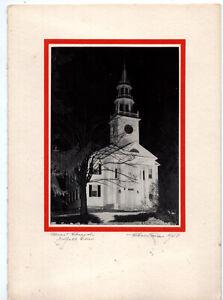 Midcentury Handmade Xmas Card w/Original Photo – Norfolk Connecticut