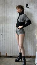 Hotpants kurze Damenhose schwarz weiß 60er TRUE VINTAGE 60s shorts black white