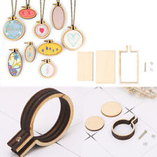 Crafts Wooden Frame Hoop Mini Cross Stitching Pendent Accessories DIY Embroidery