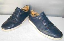 Men's Cole Haan Blue Leather Casual Fashion Sport Oxfords Size 12 D