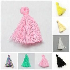 20pcs Small size soft cotton tassels fringe charms DIY crafts jewellery making