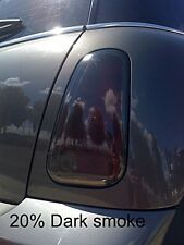 Cooper Tail light & Rear Side Marker Overlays - Precut dark smoke tint -4 pieces