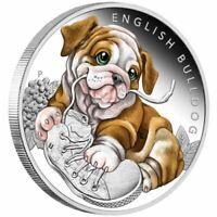2018 Puppies – English Bulldog 1/2oz Silver Proof Coin