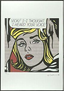 ROY LICHTENSTEIN * Vicki! * signed lithograph * limited # 48/150