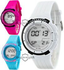 XONIX GSP unisex pedometer watch WR100M step counter, target, archive +more