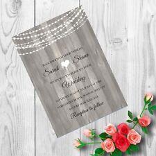 Personalised Handmade Wedding Invitations Invites Day Evening x 50 AWI19