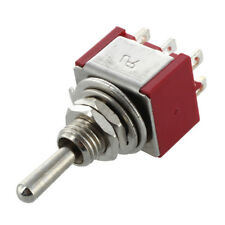 Mini interruptor de palanca DPDT ON-ON Dos posiciones Rojo 2A 250V 5A 120V D2G6