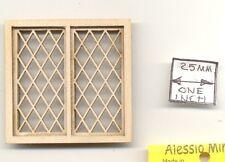 Fenster Handwerker Stil 2192 Holz Puppenhaus Miniatur 1:12 Maßstab USA Made