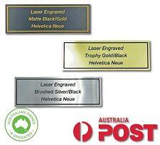 Laser Engraved 76x26mm Flexi Name Plate Trophy Plaque Photo Frame Engraving
