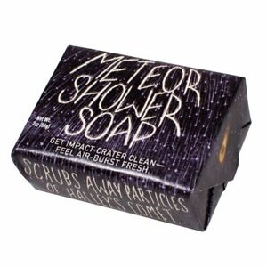 Meteor Shower Soap Bar, Get Impact-Crater Clean Feel Air-Burst Fresh NEW UNUSED