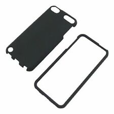 Black Case For Apple iPod Touch 5 Hard Rubberized Snap On Phone Cover
