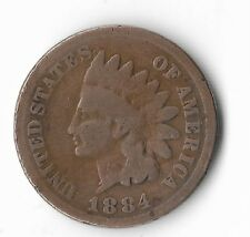 Rare Old Antique US 1884 Indian Head Penny Turn Of The Century Collection Coin