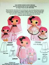 "NG Creations Sew Pattern #3 Sugar N Spice fits Lalaloopsy 12"" & 8"" Littles Doll"