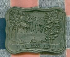 Great Belt Buckle  Great Northwest  Indiana Metal Craft