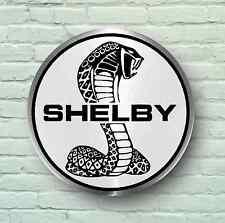 SHELBY COBRA BADGE LOGO 2FT LARGE GARAGE SIGN WALL USA BRITISH CLASSIC CAR