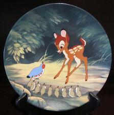 RARE Disney LE Baby Bambi Prince Birds Knowles Bradex Ceramic Porcelain Plate