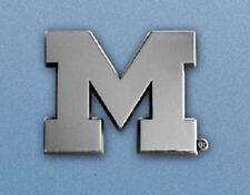 Michigan Wolverines Heavy Metal Auto Emblem [NEW] Chrome Car Decal Sticker CDG
