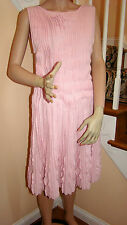 New with Tags CHANEL 13C Pale Pink Pleated Sleeveless Knit Tankdress 40