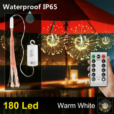 180LED Christmas Remote Control Waterproof Firework Copper Wire String Lights