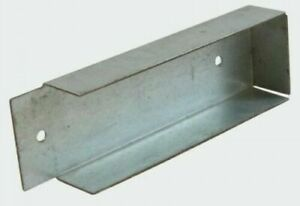 2 x Concrete Gravel Board Bracket 50mm For Timber Fence Posts 50mm wide x 150mm