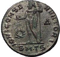 Constantine I 'The Great' 312AD Ancient Roman Coin Jupiter Zeus Cult i55615
