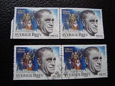 SUEDE - timbre yvert et tellier n° 2052 x4 obl (A29) stamp sweden (A)