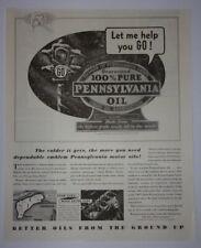 1936 Pennsylvania Grade Crude Oil Association Advertisement