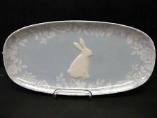 New listing Magenta Easter Bunny Rabbit Damask Serving Platter Tray Blue Pastel Spring
