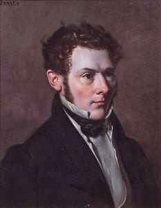 19th Century Scottish Regency Portrait Of A Gentleman Alexandre George I FRASER
