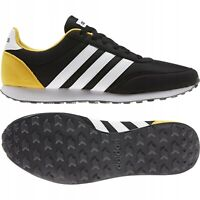 Adidas V Racer 2.0 Men`s Boy`s Running Sport Trainers Black Yellow UK Stock