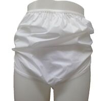 Ladies Plain White Waterproof Incontinence Briefs Pants Knickers