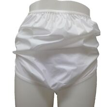 Donne Bianco Tinta Unita Impermeabile Incontinenza Slip Pantaloni Mutande