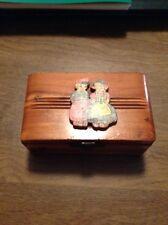 Wooden Box Vintage Old Box Boy Girl