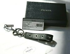 Authentic PRADA Key Ring with Leather Strap Brand New