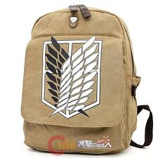 Attack on Titan Large School Backpack Canvas Scouting Beige Anime Costums Bag