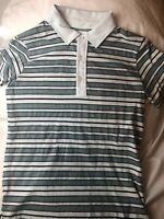 Billy Reid Men's Striped Short Sleeve Polo Shirt Size S