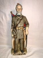 """McCORMICK 12"""" Porcelain Whiskey Decanter Civil War CONFEDERATES Robert E Lee"""